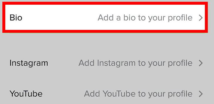 Edit your bio