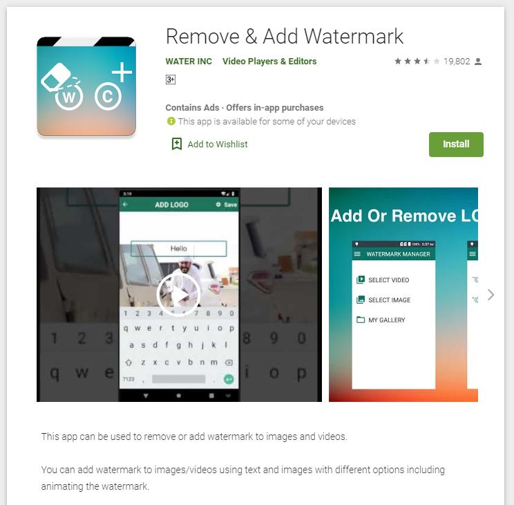 Remove & Add Watermark